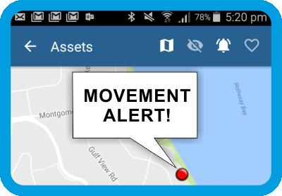 movement alert gps non powered assets