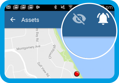 movement alerts from gps for security